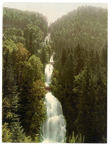 Brienz Lake, the Giessbach, Bernese Oberland, Switzerland. Date between ca. 1890 and ca. 1900.