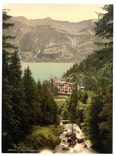 Brienz Lake, Hotel Giessbach, Bernese Oberland, Switzerland. Date between ca. 1890 and ca. 1900.