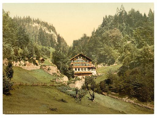 The Summit Hotel, Brunig, Bernese Oberland, Switzerland. Date between ca. 1890 and ca. 1900.
