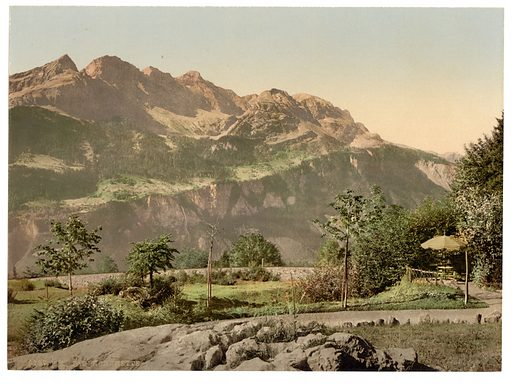 Brunig Spring House, the Faulhorn, Brunig, Bernese Oberland, Switzerland. Date between ca. 1890 and ca. 1900.