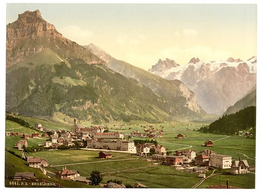 Engelberg Valley, general view, Bernese Oberland, Switzerland. Date between ca. 1890 and ca. 1900.