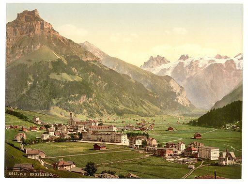 Engelberg Valley, general view, Bernese Oberland, Switzerland. Date between ca. 1890 and ca. 1900.