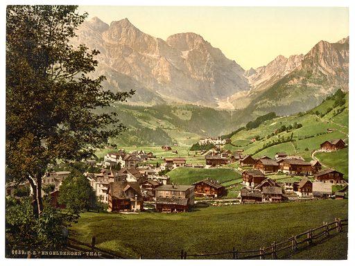 Engelberg Valley and Juchlipass, Bernese Oberland, Switzerland. Date between ca. 1890 and ca. 1900.