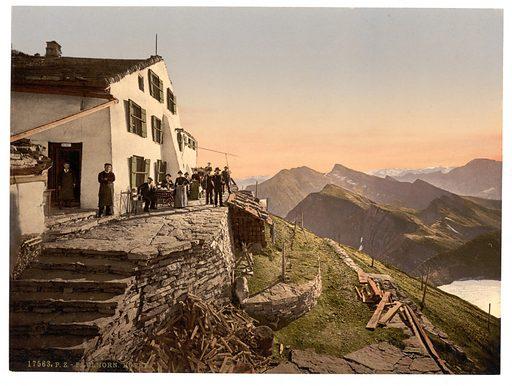 Faulhorn Hotel, Bernese Oberland, Switzerland. Date between ca. 1890 and ca. 1900.