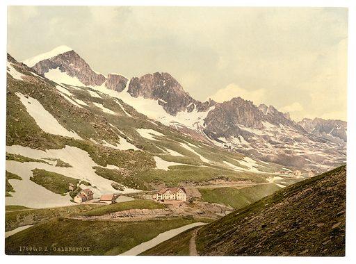 Furka Pass, Galenstock, general view, Bernese Oberland, Switzerland. Date between ca. 1890 and ca. 1900.