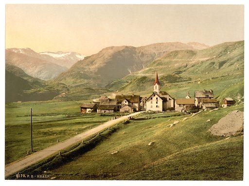 Furka Pass, Realp, general view, Bernese Oberland, Switzerland. Date between ca. 1890 and ca. 1900.