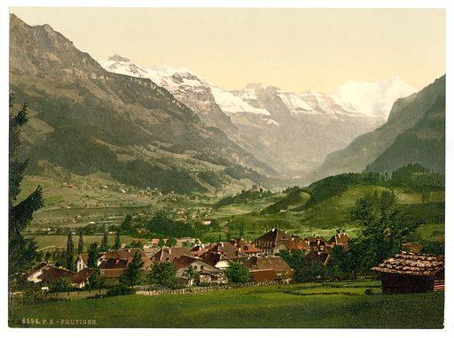 Frutigen, general view, Bernese Oberland, Switzerland. Date between ca. 1890 and ca. 1900.