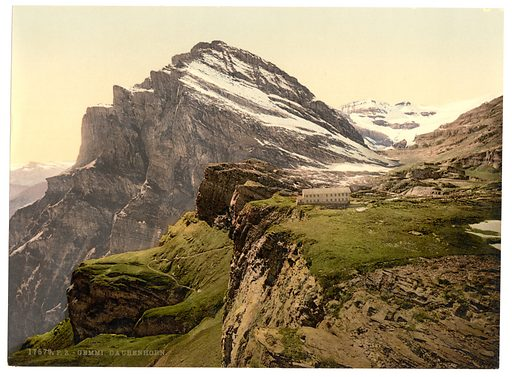 Gemmi, Daubenhorn, Bernese Oberland, Switzerland. Date between ca. 1890 and ca. 1900.