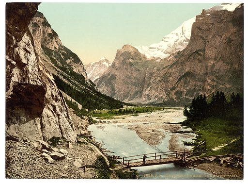 Gemmi, Gasthernthal, Bernese Oberland, Switzerland. Date between ca. 1890 and ca. 1900.