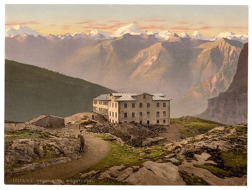 Gemmi, Hotel Wildstrubel, Bernese Oberland, Switzerland. Date between ca. 1890 and ca. 1900.