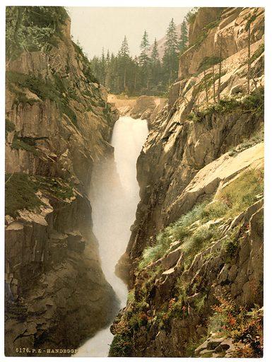 Grimselstrasse, Handegg Falls, II, Bernese Oberland, Switzerland. Date between ca. 1890 and ca. 1900.
