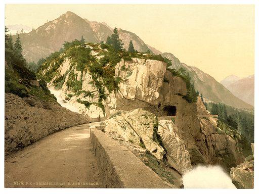 Grimselstrasse, Aerlenbach, Bernese Oberland, Switzerland. Date between ca. 1890 and ca. 1900.
