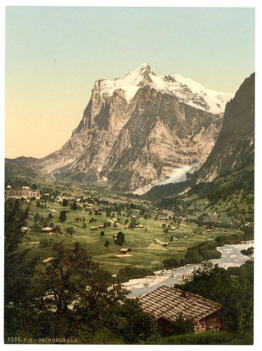 Grindelwald, general view, Bernese Oberland, Switzerland. Date between ca. 1890 and ca. 1900.