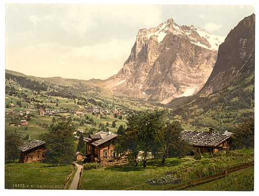 Grindelwald, general view, Bernese Oberland, Switzerland. Date between ca. 1890 and ca. 1900.