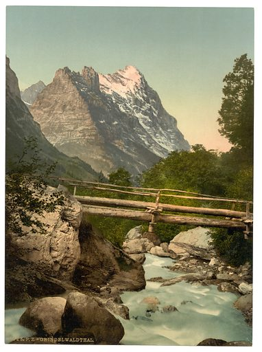 Grindelwald, with Eiger, Bernese Oberland, Switzerland. Date between ca. 1890 and ca. 1900.