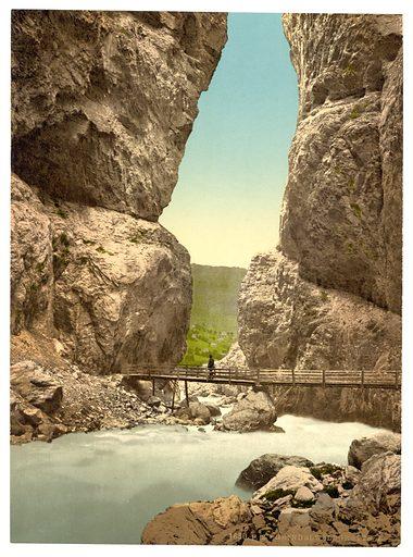 Grindelwald, grotto, I, Bernese Oberland, Switzerland. Date between ca. 1890 and ca. 1900.