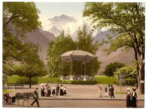 Interlaken, Music Pavillion, Bernese Oberland, Switzerland. Date between ca. 1890 and ca. 1900.