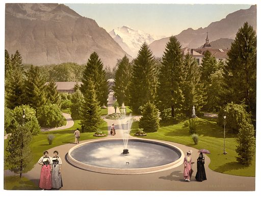 Interlaken, Kursall, Bernese Oberland, Switzerland. Date between ca. 1890 and ca. 1900.