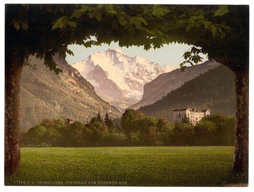 Jungfrau, from Hoheweg, Bernese Oberland, Switzerland. Date between ca. 1890 and ca. 1900.