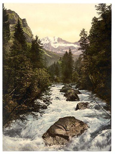 Kander Valley and Doldenhorner, Bernese Oberland, Switzerland. Date between ca. 1890 and ca. 1900.