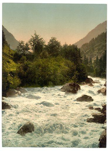 Lutschinen Valley, Bernese Oberland, Switzerland. Date between ca. 1890 and ca. 1900.