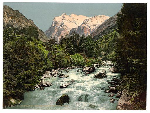 Lutschinen and Wetterhorn, Bernese Oberland, Switzerland. Date between ca. 1890 and ca. 1900.