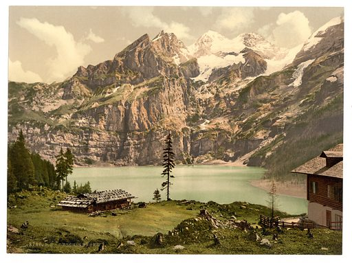 Lutschinen, Oeschinensee, Bernese Oberland, Switzerland. Date between ca. 1890 and ca. 1900.