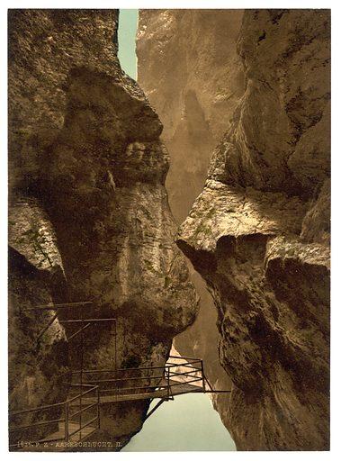 Lutschinen, Aare Ravine, II, Bernese Oberland, Switzerland. Date between ca. 1890 and ca. 1900.
