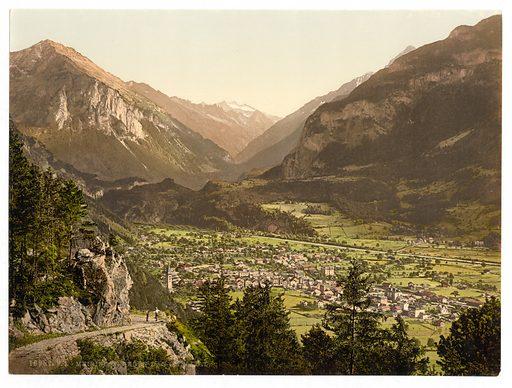Meirngen, looking towards the Haslital, Bernese Oberland, Switzerland. Date between ca. 1890 and ca. 1900.