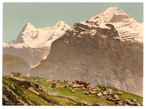 Murren, general view, Bernese Oberland, Switzerland. Date between ca. 1890 and ca. 1900.