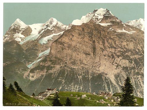 Murren, general view, Bernese Oberland, Switzerland. Date between ca. 1890 and ca. 1900.