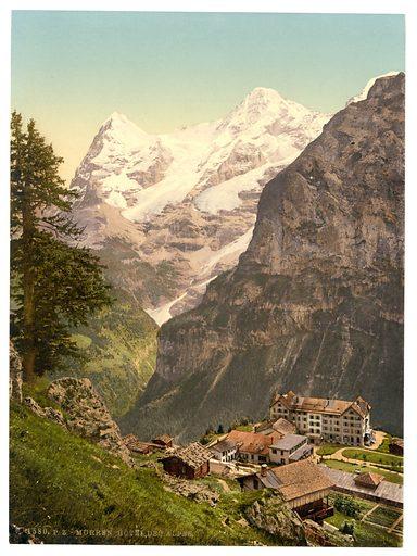 Murren, Hotel des Alps, Bernese Oberland, Switzerland. Date between ca. 1890 and ca. 1900.