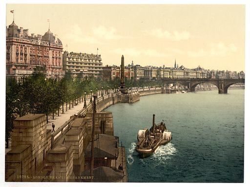 Thames embankment, London, England