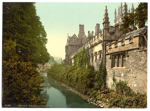 Magdalen College, from the river, Oxford, England