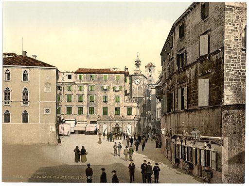Spalato, Signori Square, Dalmatia, Austro-Hungary. Date between ca 1890 and ca 1900.