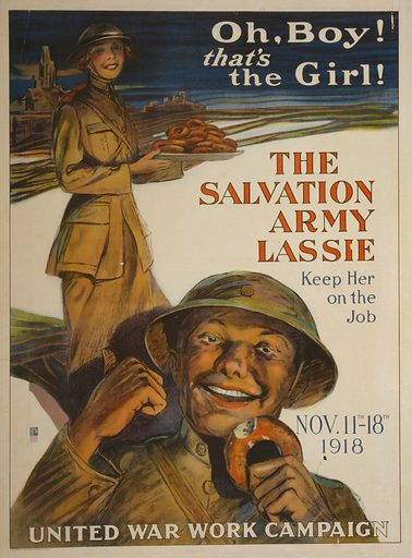 Salvation Army lassie, picture, image, illustration