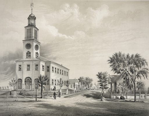 The old Congregational Church, Saco. Date c1860 September 10.