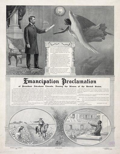 Emancipation Proclamation. Date c1896 Oct. 12.