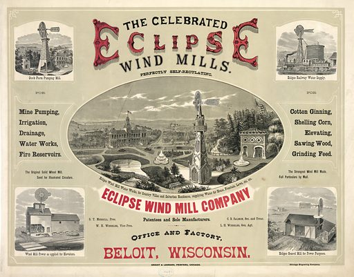 The celebrated eclipse wind mills.