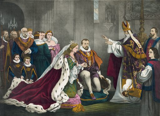 Mary Stuart's wedding to Henry Darnley… Date c1868