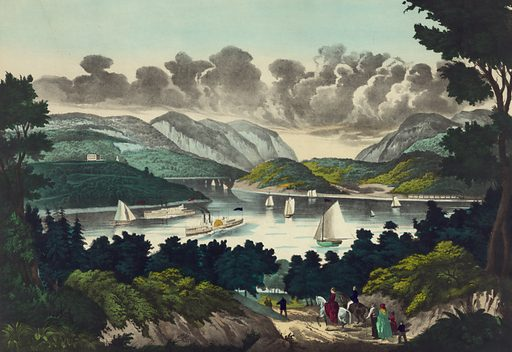 View on the Hudson, West Point.
