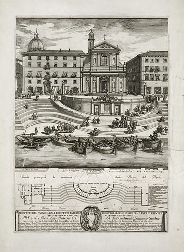Prospetto del nvovo navale di ripetta fabbrica to sotto i gloriosi avspicj di ns Papa Clemente XI.