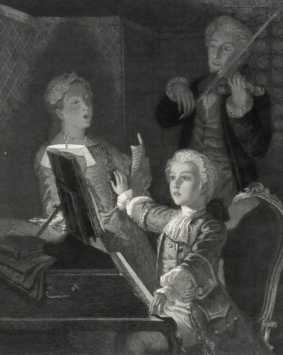 Mozart rehearsing his XIIth mass