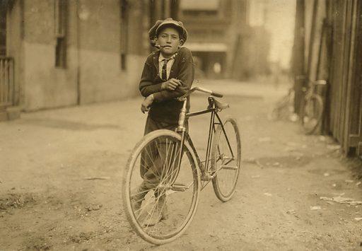 Messenger boy working for Mackay Telegraph Company