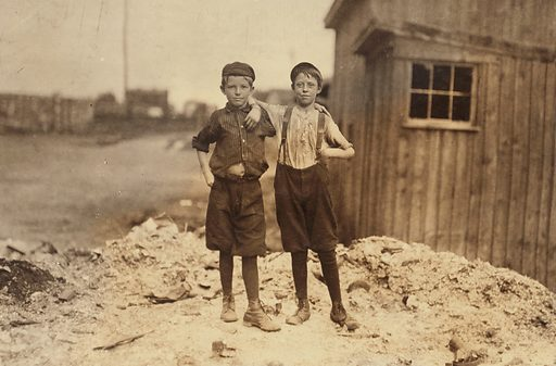 Two young carrying-in boys in Alexandria (Va.) Glass Factory