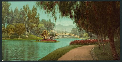 Hollenbeck Park, Los Angeles. Date c1901.