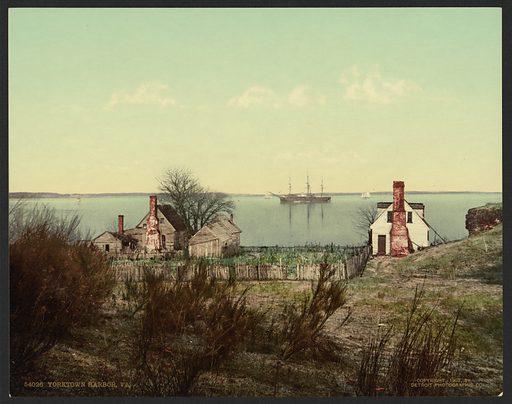 Yorktown harbor, VA. Date c1903.