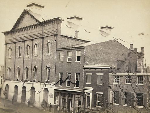 Ford's Theatre, scene of the assassination. Date 1865.