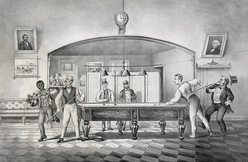 """The beauties of billiards: """"a carom on the dark red"""""""