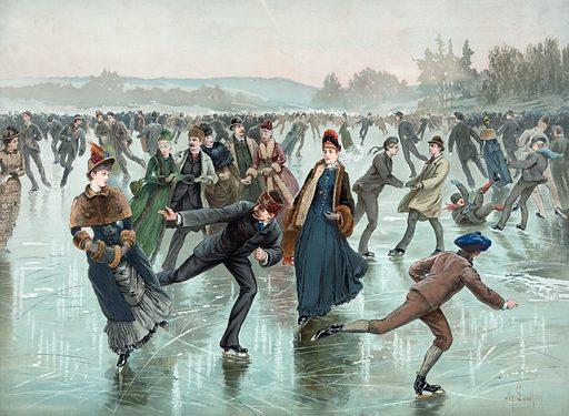 Skating. Date c1885